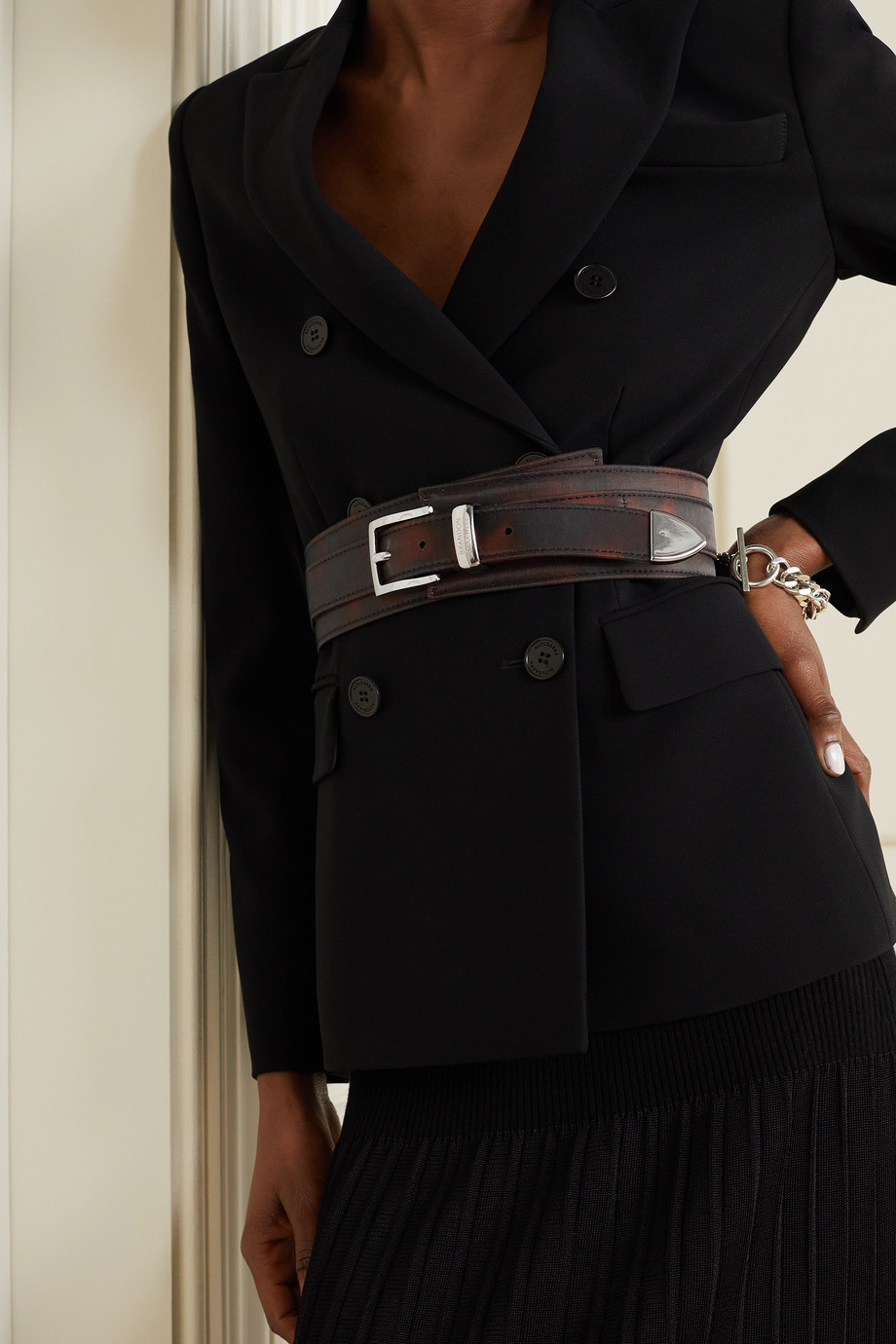 BRANDON MAXWELL Printed shell waist belt