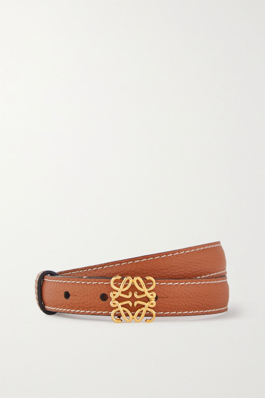 LOEWE Anagram textured-leather belt