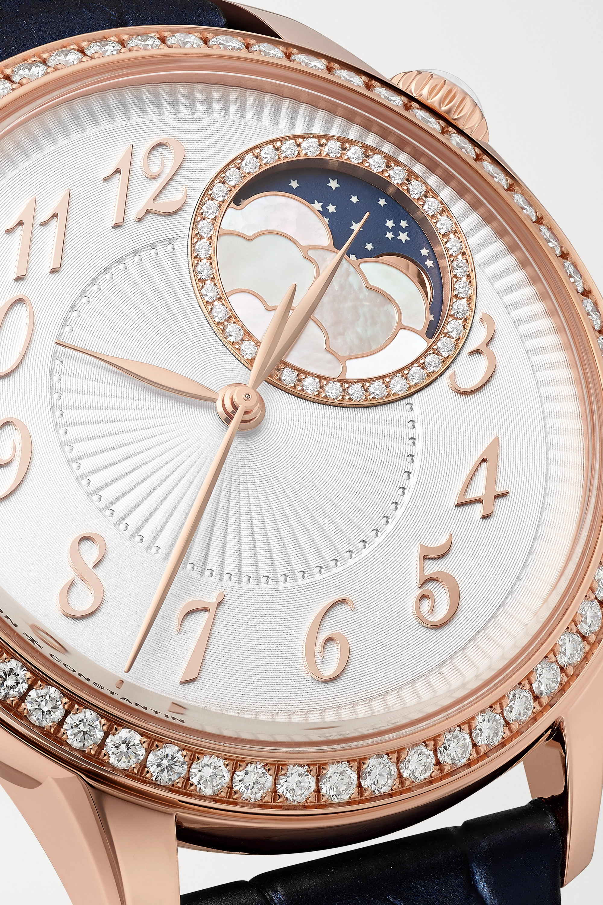 VACHERON CONSTANTIN Egérie Automatic Moon-Phase 37mm 18-karat pink gold and diamond watch
