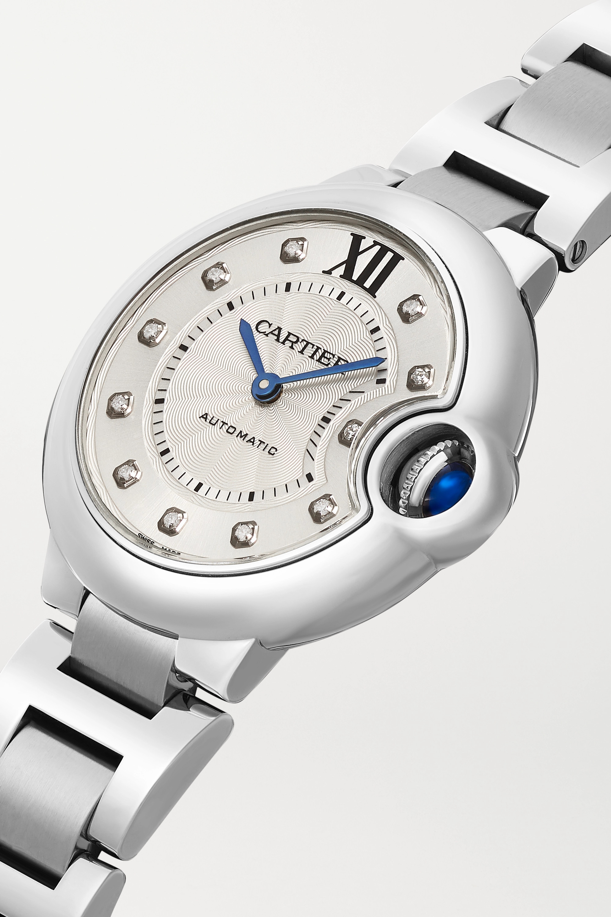 CARTIER Ballon Bleu de Cartier Automatic 33mm stainless steel and diamond watch