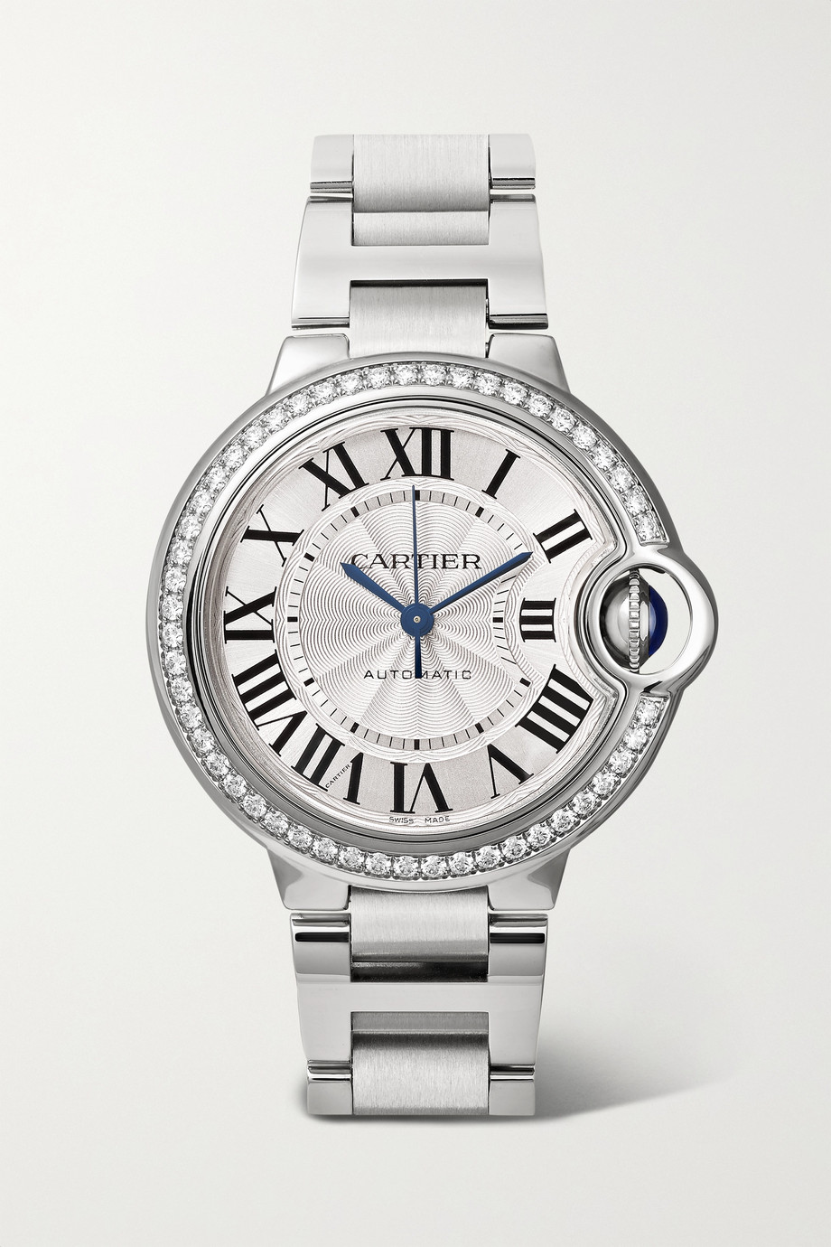 CARTIER Ballon Bleu de Cartier Automatic 36mm stainless steel and diamond watch
