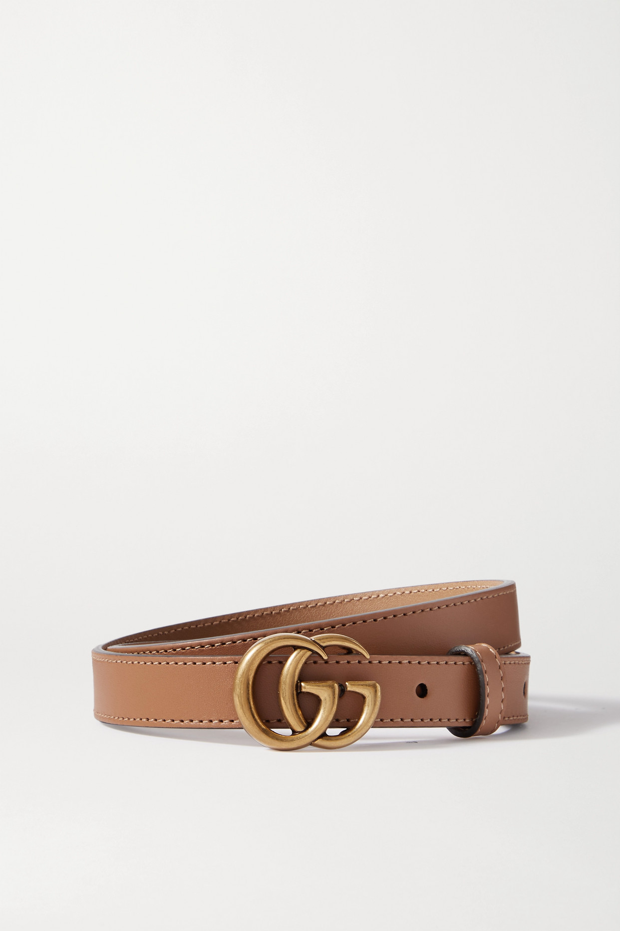 GUCCI - Leather Belt - Brown - 70