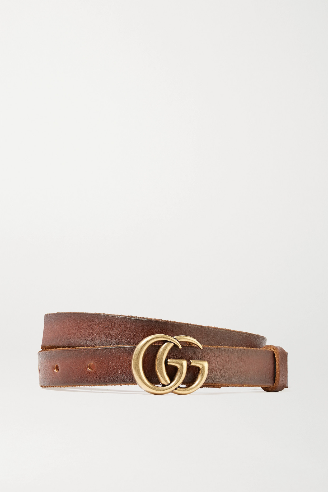 GUCCI - Leather Belt - Brown - 115