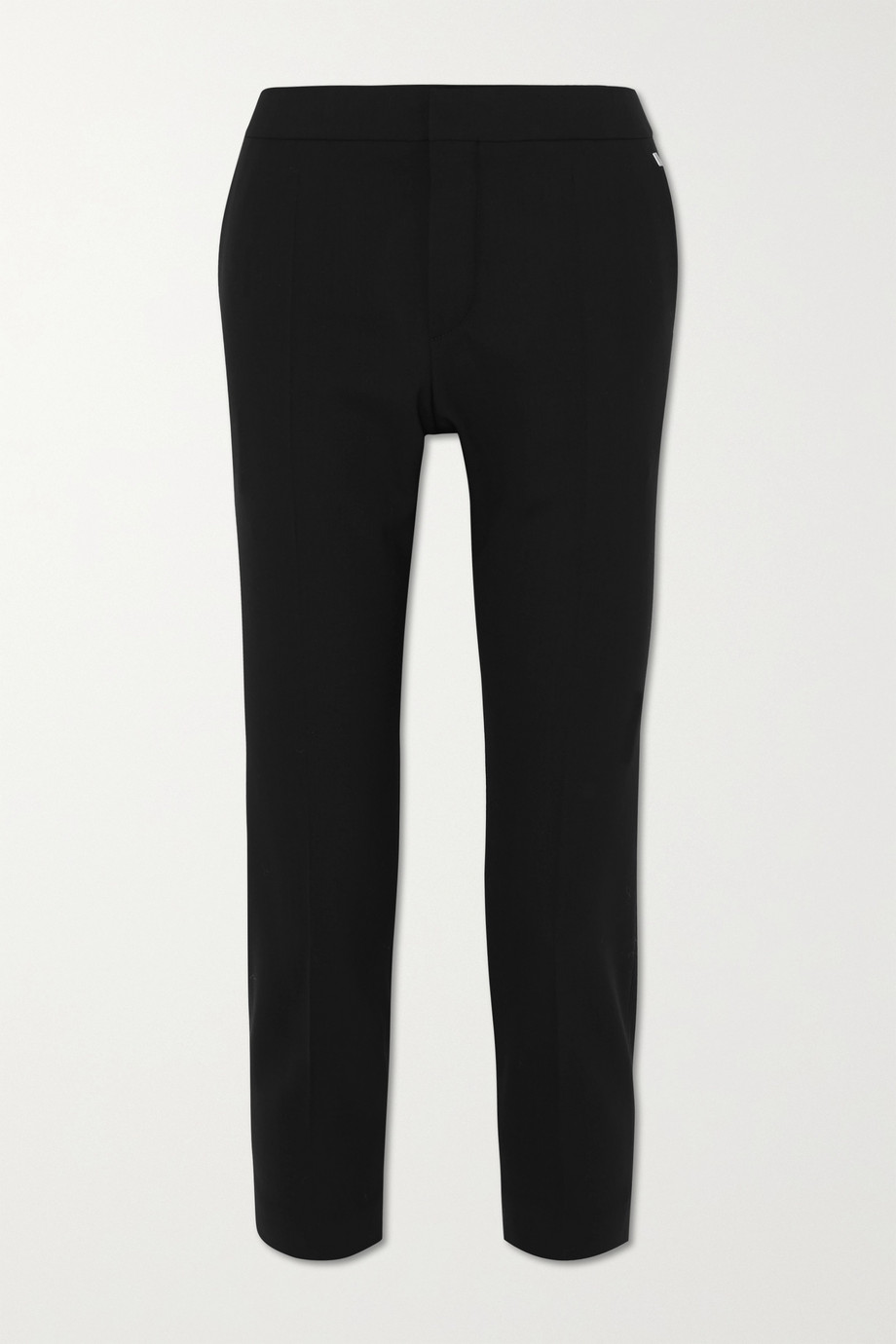 CHLOÉ Cropped stretch-wool straight-leg pants