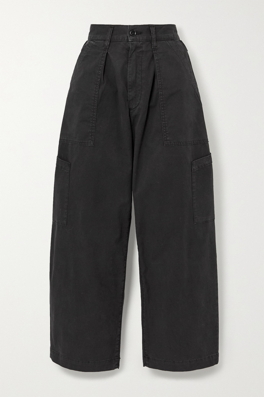 AGOLDE Mari cotton-blend twill tapered pants