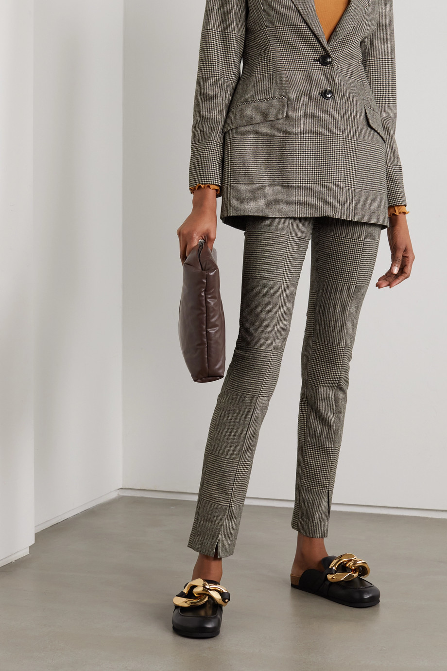 HOLZWEILER Sira checked woven slim-leg pants