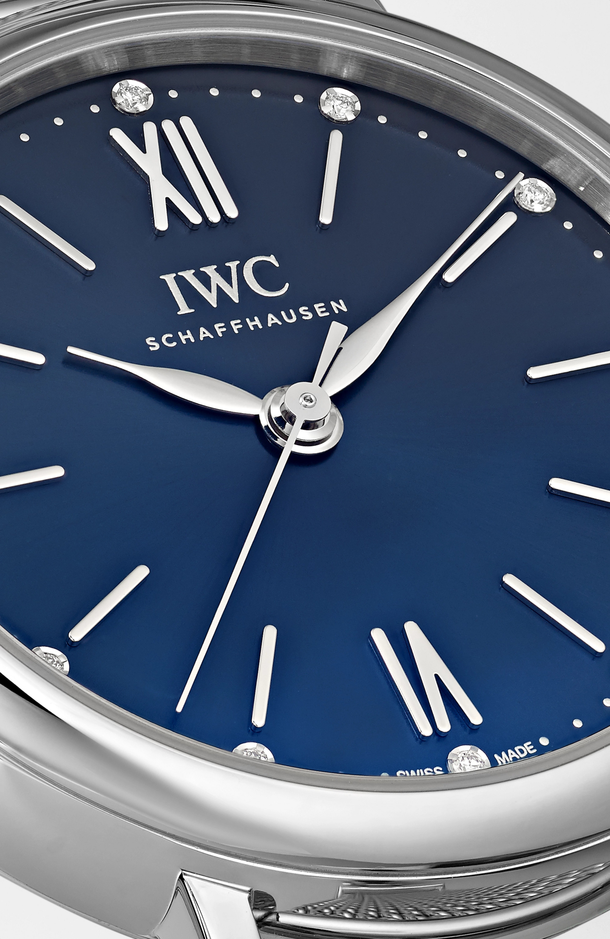 IWC SCHAFFHAUSEN Portofino Automatic 34mm stainless steel and diamond watch