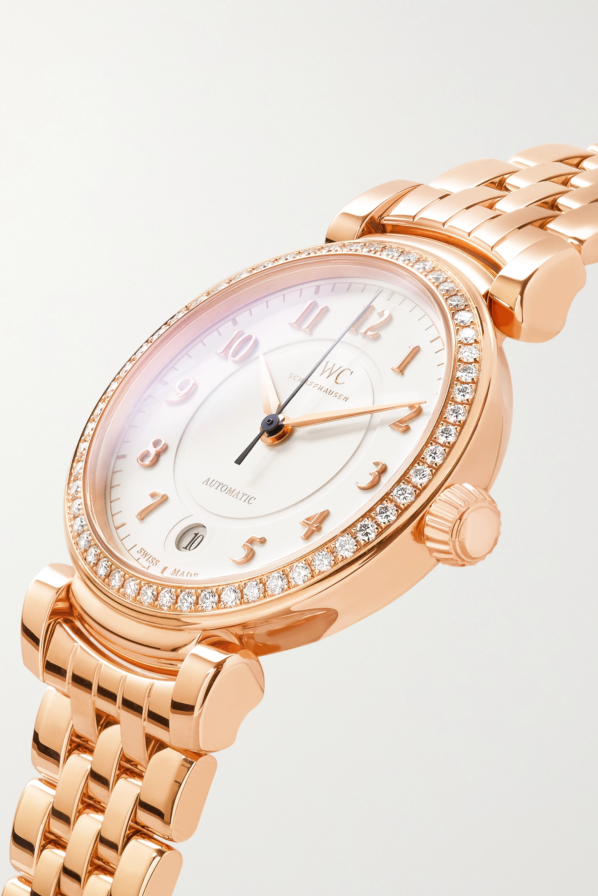 IWC SCHAFFHAUSEN Da Vinci Automatic 36 18-karat red gold diamond watch