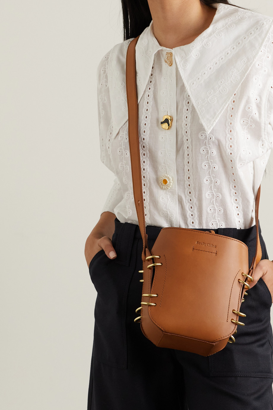 SEE BY CHLOÉ Alvy leather bucket bag