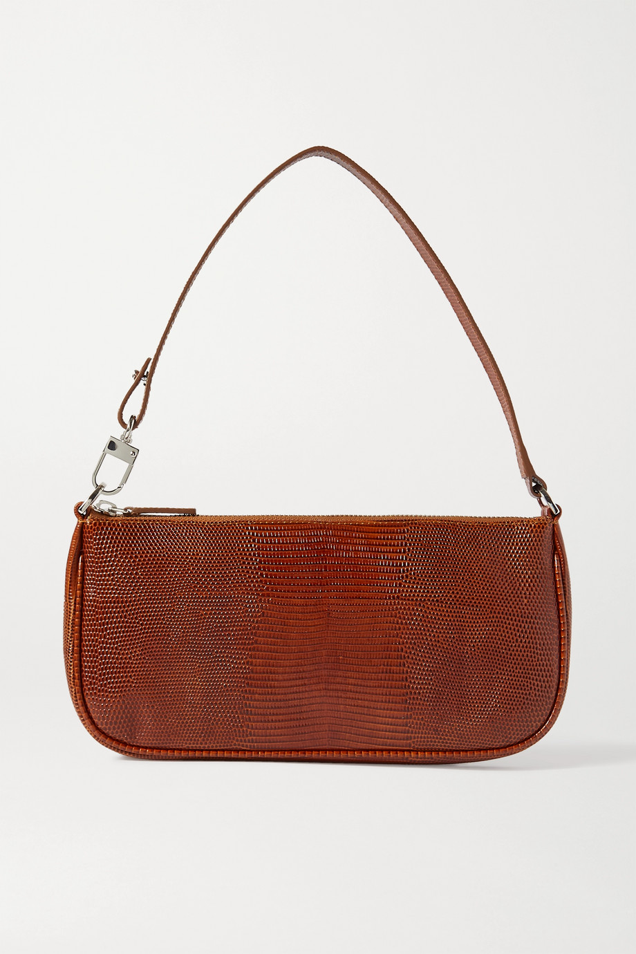 BY FAR Rachel lizard-effect leather shoulder bag