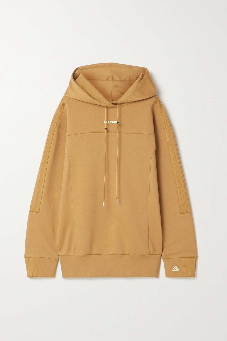 ADIDAS ORIGINALS + Ivy Park 4All satin-trimmed cotton-blend jersey and piqué hoodie