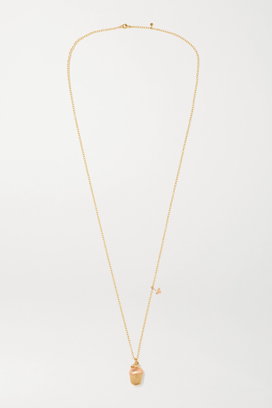 OLE LYNGGAARD COPENHAGEN Forest 18-karat yellow and rose gold diamond necklace