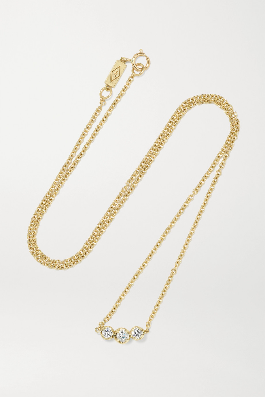 JENNIFER MEYER Illusion 18-karat gold diamond necklace