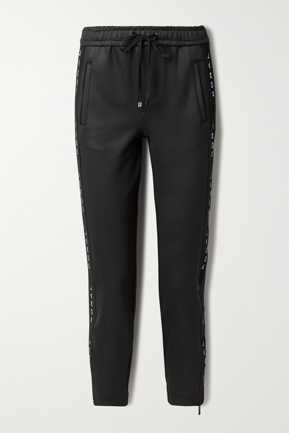KORAL Zone cropped mesh-paneled tech-jersey track pants