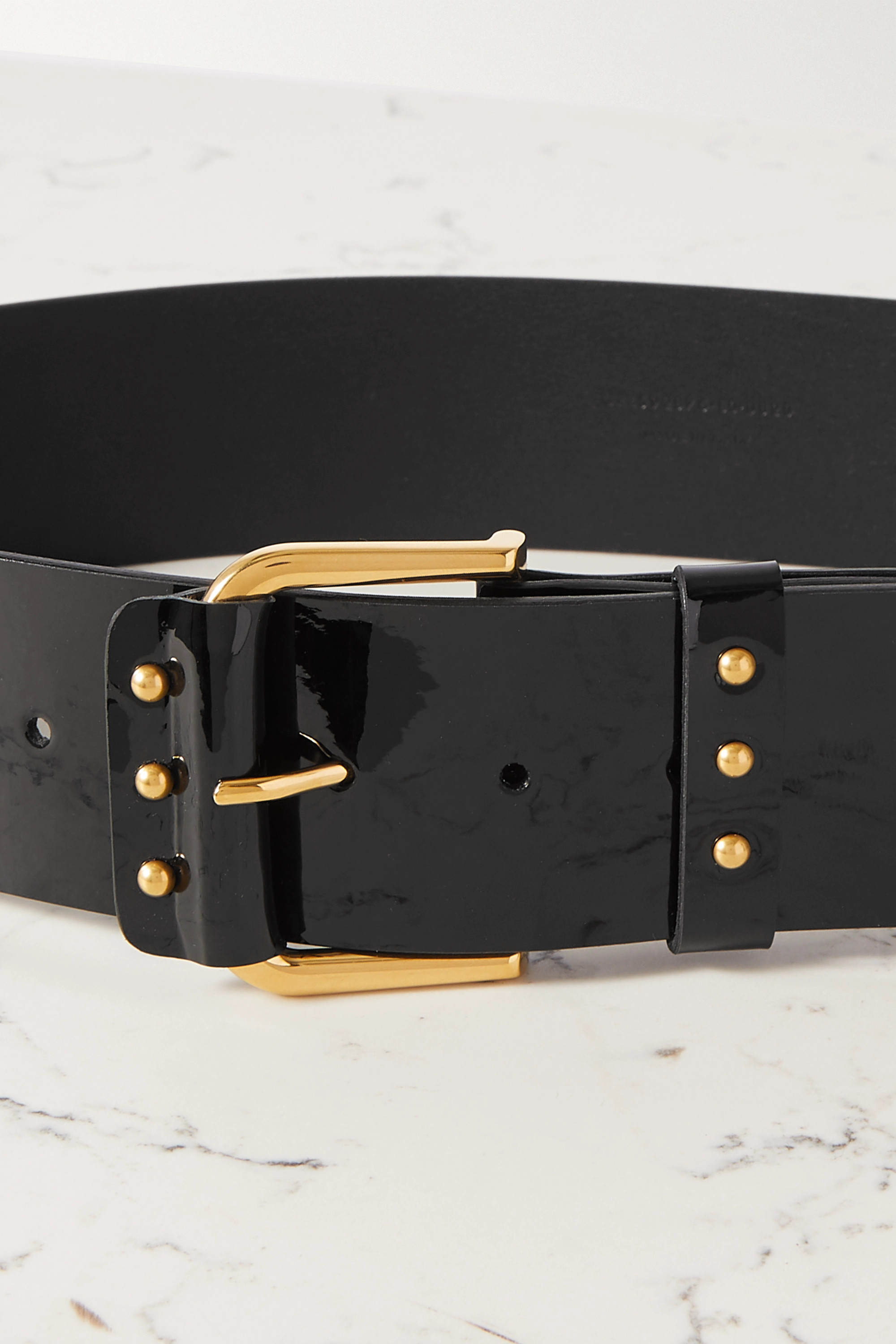 SAINT LAURENT Patent-leather waist belt