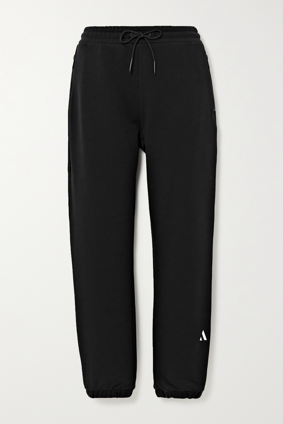 AARMY Embroidered cotton-jersey track pants