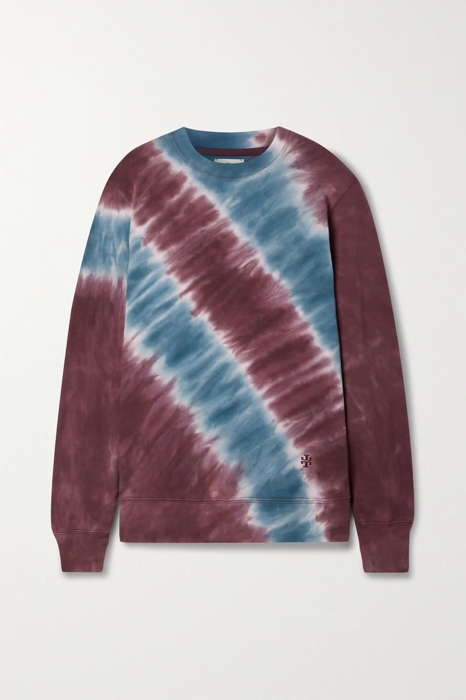 TORY SPORT Tie-dyed cotton-terry sweatshirt