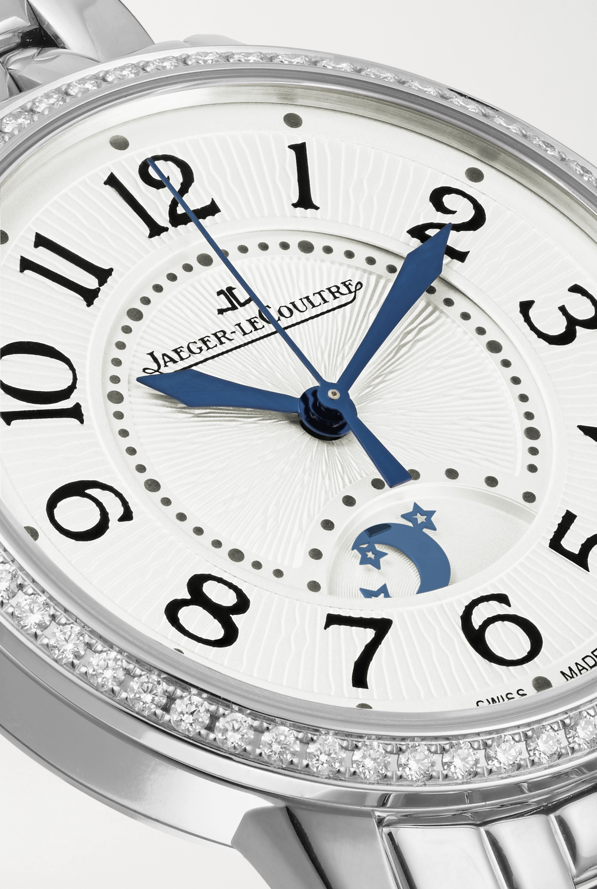 JAEGER-LECOULTRE Rendez-Vous Night & Day Automatic 34mm medium stainless steel and diamond watch
