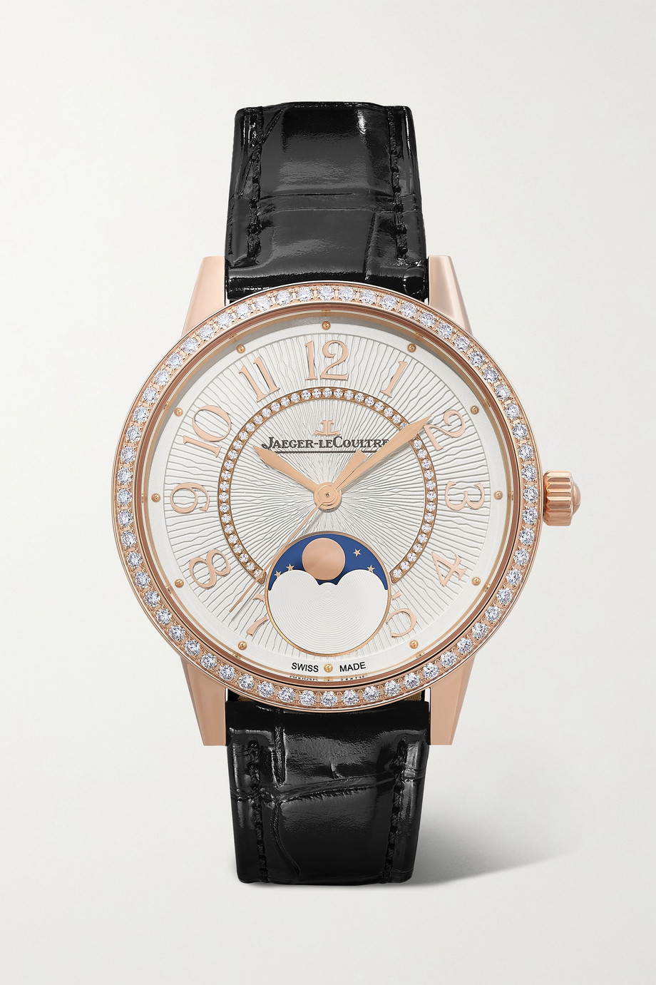 JAEGER-LECOULTRE Rendez-Vous Moon Automatic 34mm medium rose gold, alligator and diamond watch