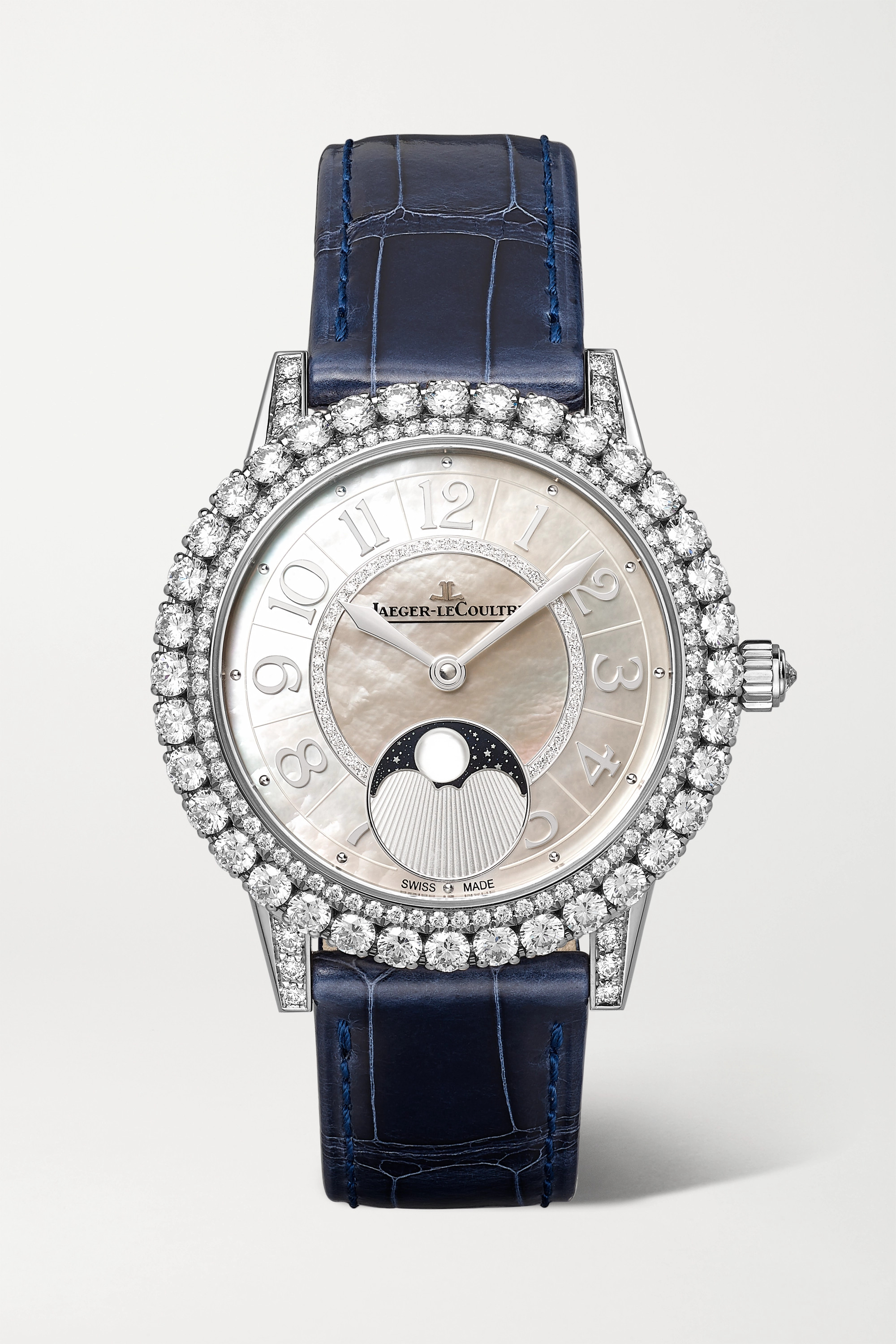 JAEGER-LECOULTRE Dazzling Rendez-Vous Moon Automatic 36mm medium white gold, alligator and diamond watch