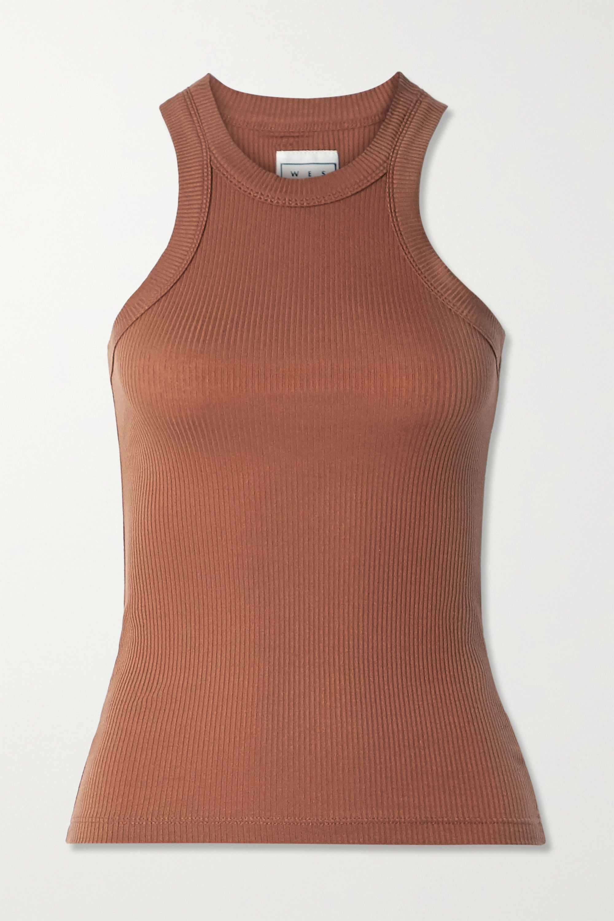 WSLY The Rivington ribbed stretch-TENCEL Lyocell tank