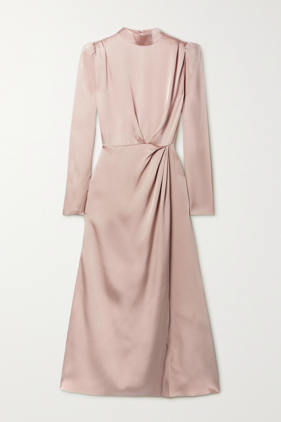 ANINE BING Kim open-back draped silk-satin midi dress