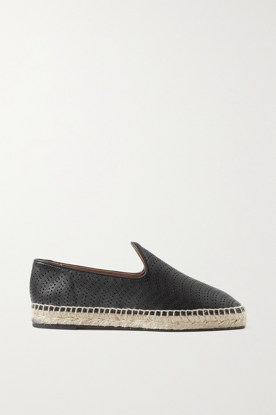 ALAÏA Laser-cut leather espadrilles