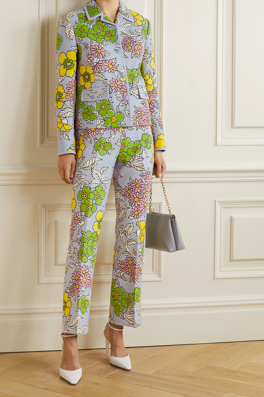 TORY BURCH Floral-print crepe jacket
