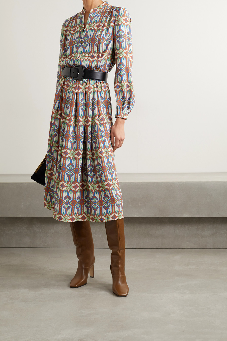 TORY BURCH Printed crepe midi dress