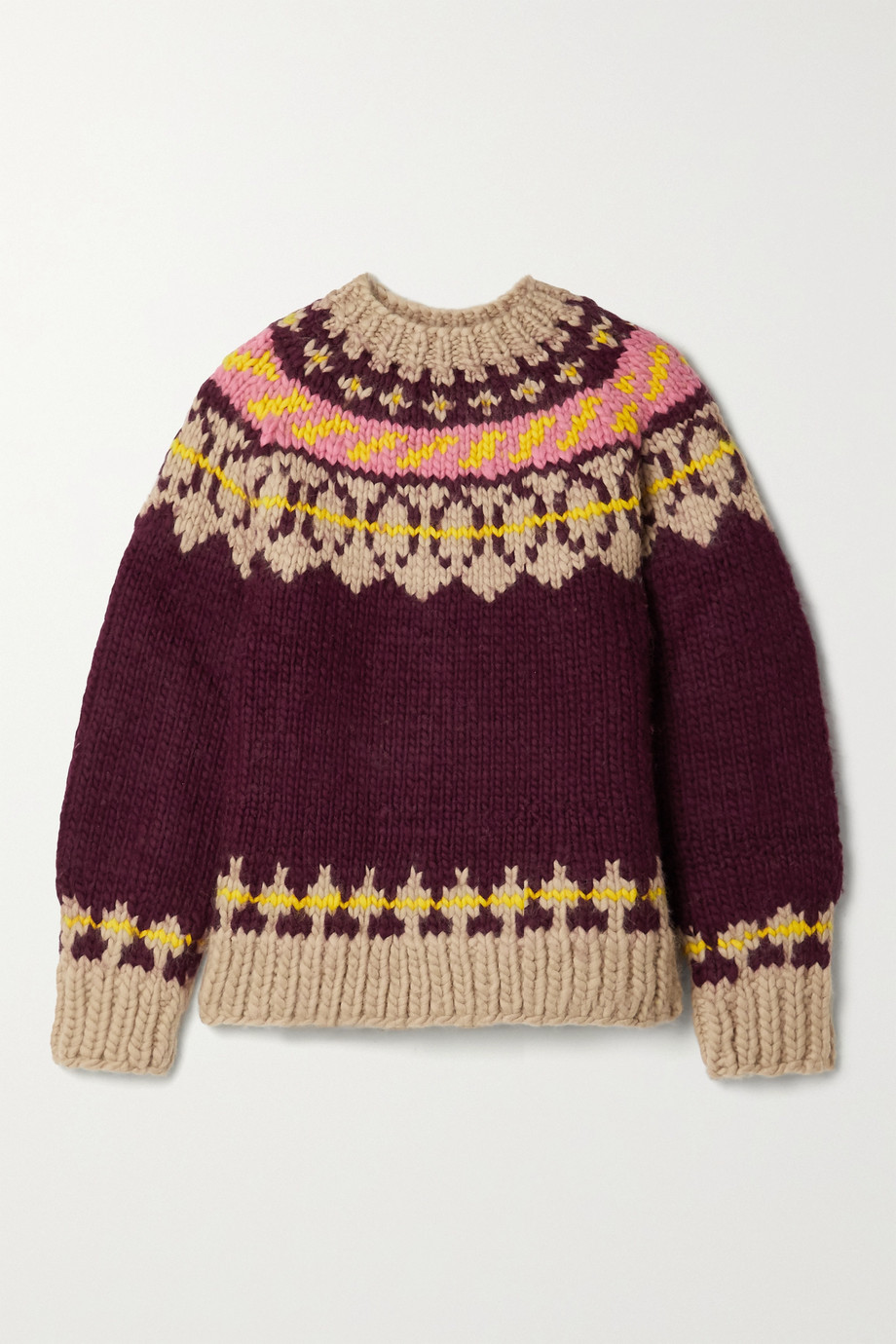 TORY BURCH Fair Isle wool sweater