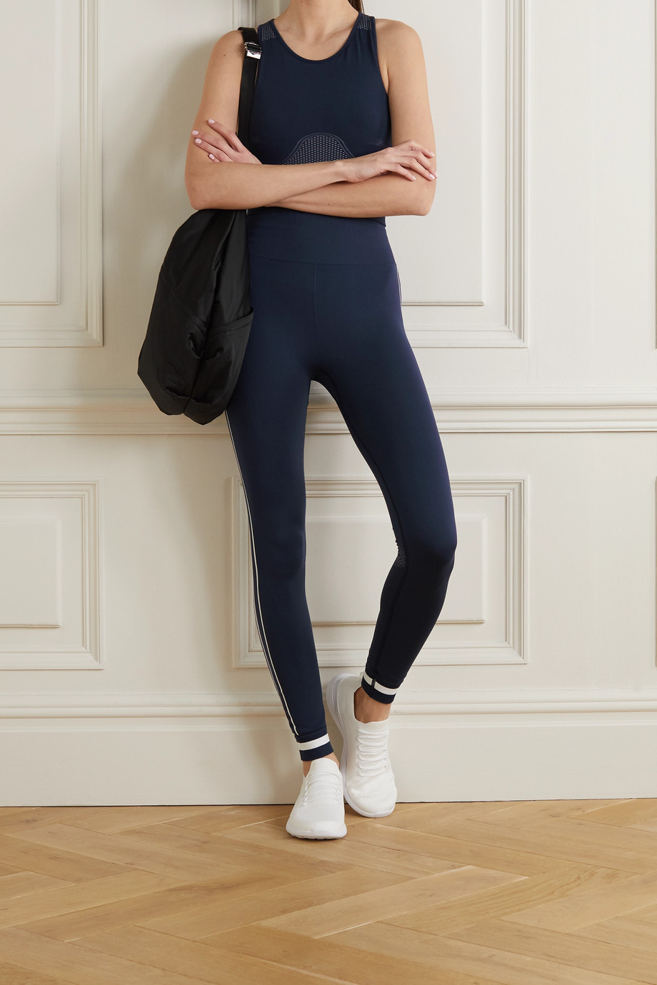 THE UPSIDE Bianca striped stretch high-rise leggings