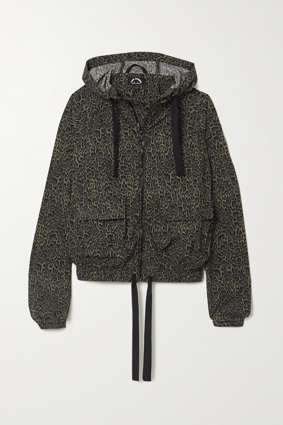 THE UPSIDE Ramy hooded leopard-print stretch-shell jacket