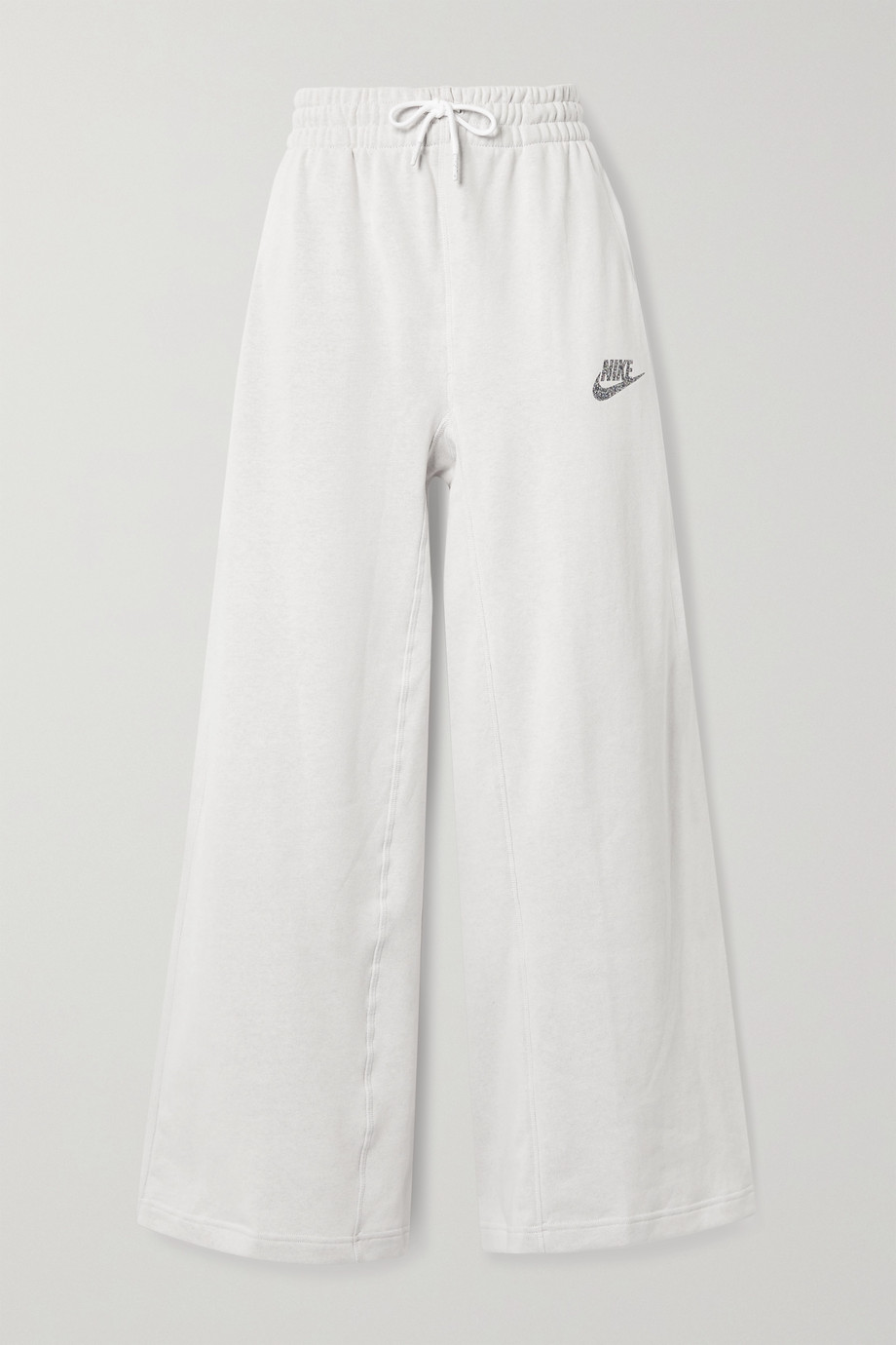 NIKE Sportswear cotton-blend jersey wide-leg track pants
