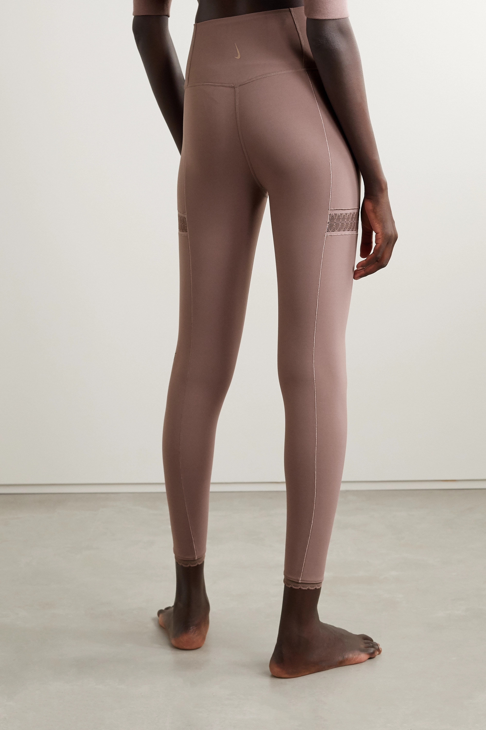 NIKE Yoga Infinalon lace-trimmed Dri-FIT leggings