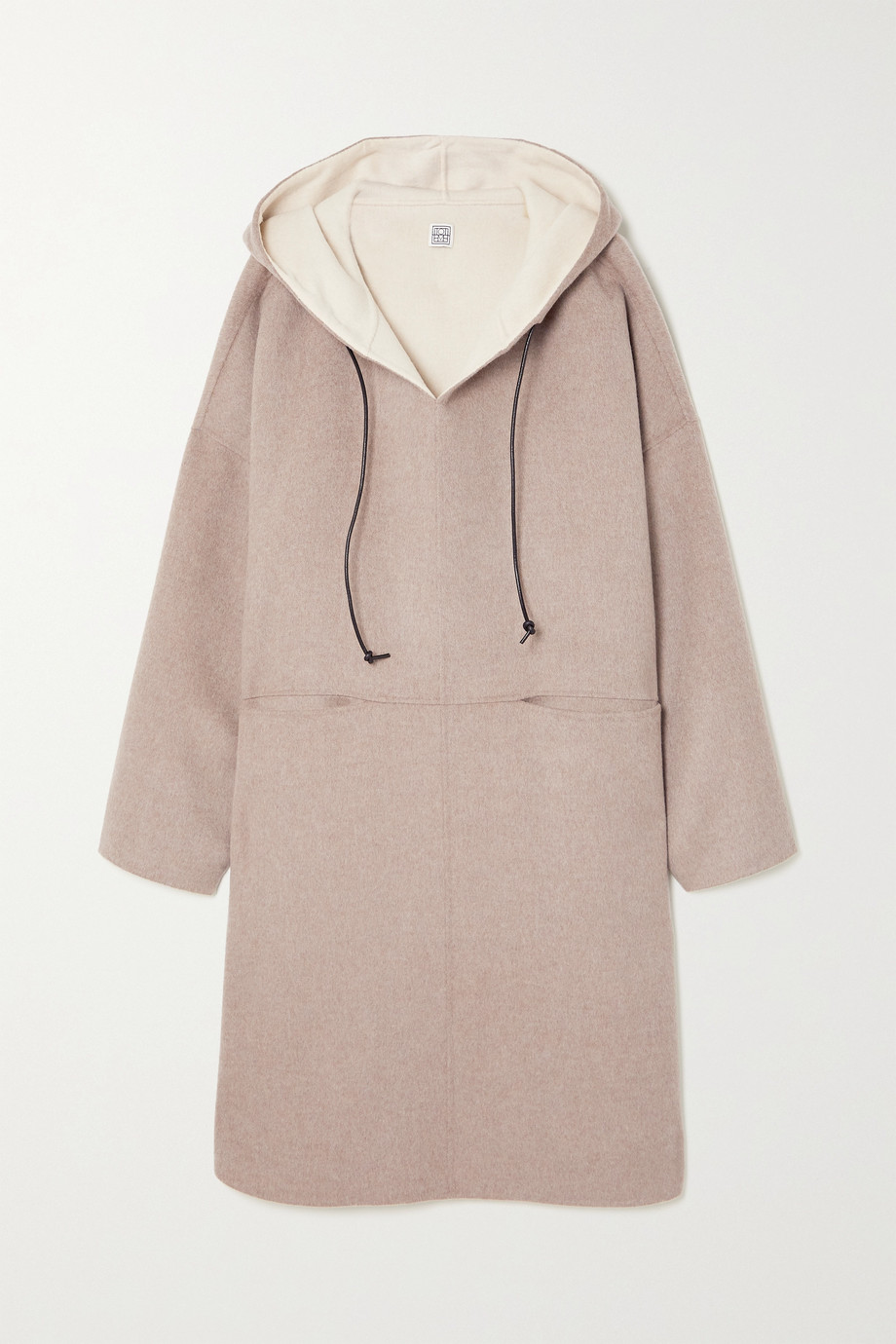 TOTÊME Hooded wool and cashmere-blend coat