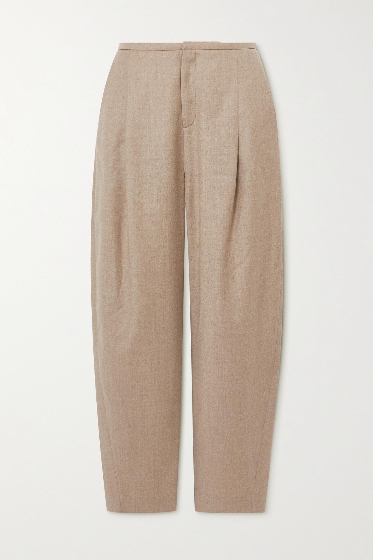 TOTÊME - 羊毛混纺法兰绒直筒裤 - 中性色 - FR34