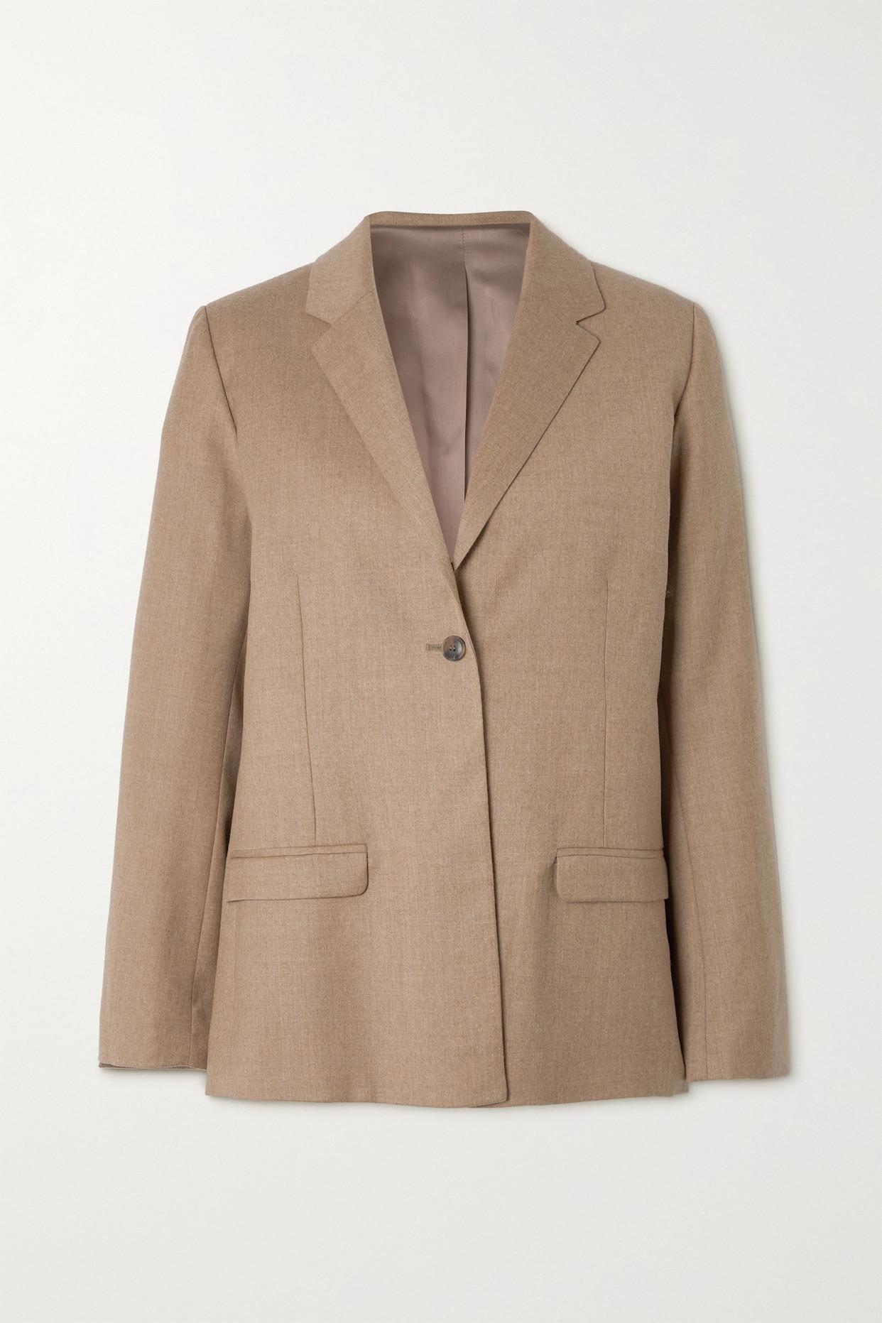 TOTÊME - 羊毛混纺法兰绒西装外套 - 中性色 - FR42