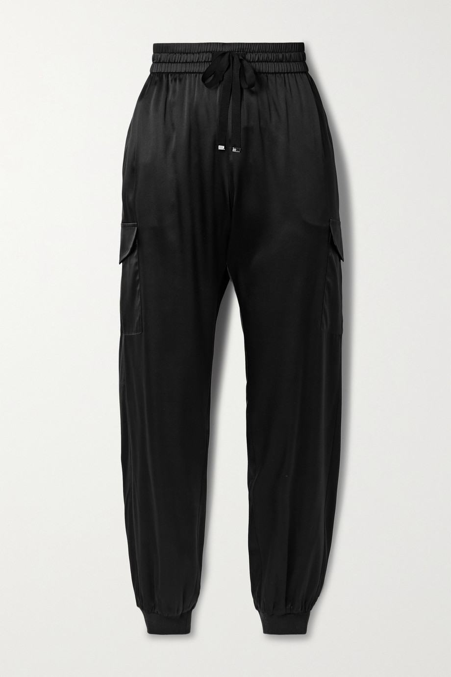 CAMI NYC The Elsie silk-blend charmeuse track pants