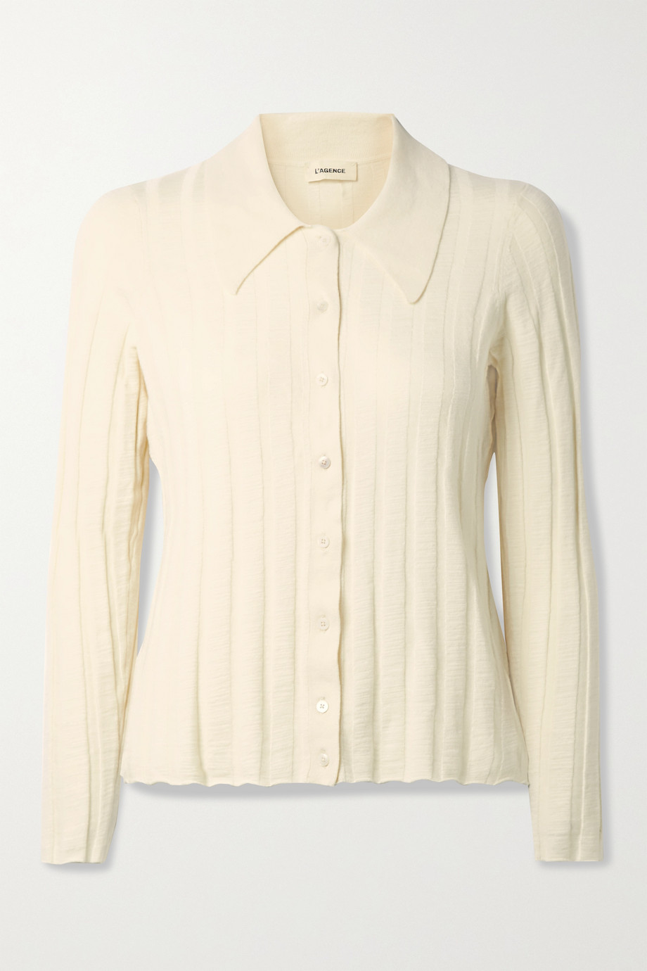 L'AGENCE Naya ribbed-knit cardigan