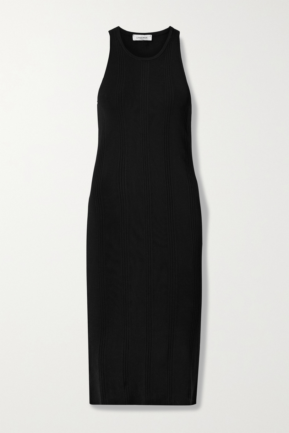 L'AGENCE Shelby ribbed-knit midi dress