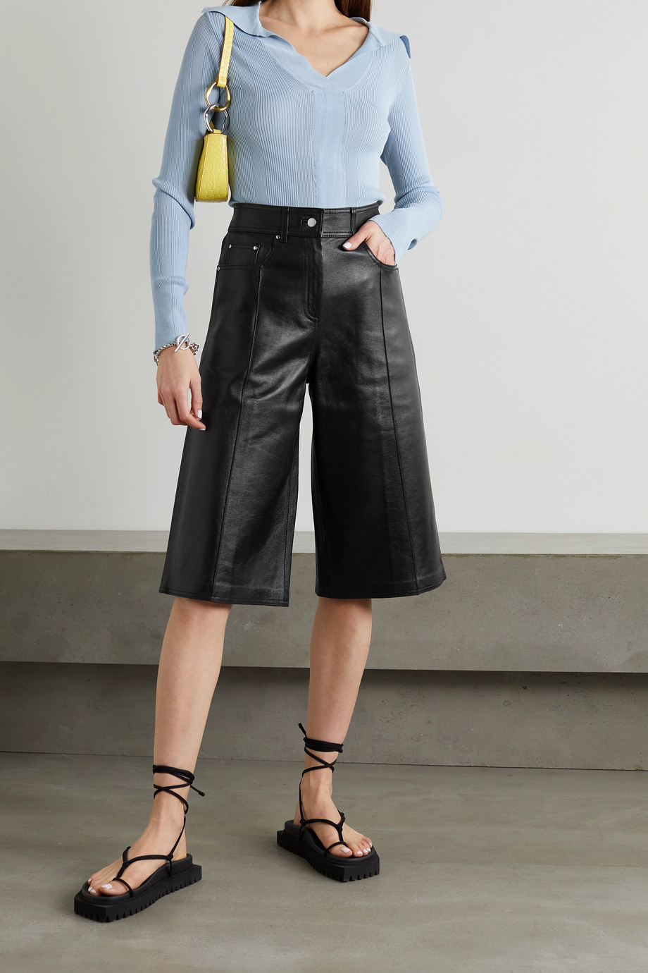 STAND STUDIO Fenella leather shorts