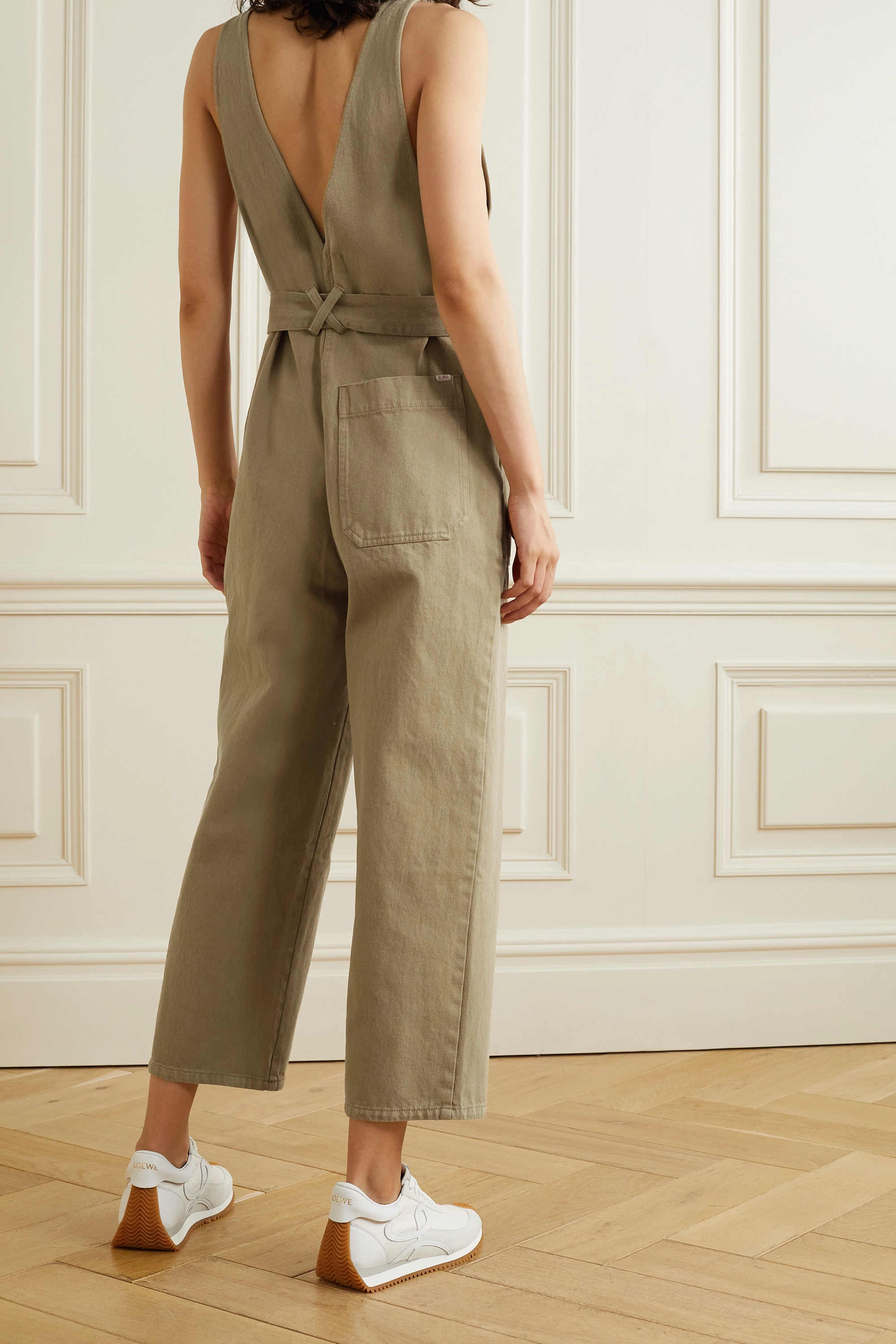 ALEX MILL Ollie belted denim jumpsuit