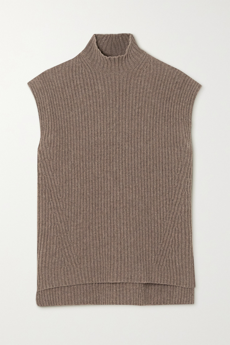 GANNI Oversized ribbed wool-blend sweater