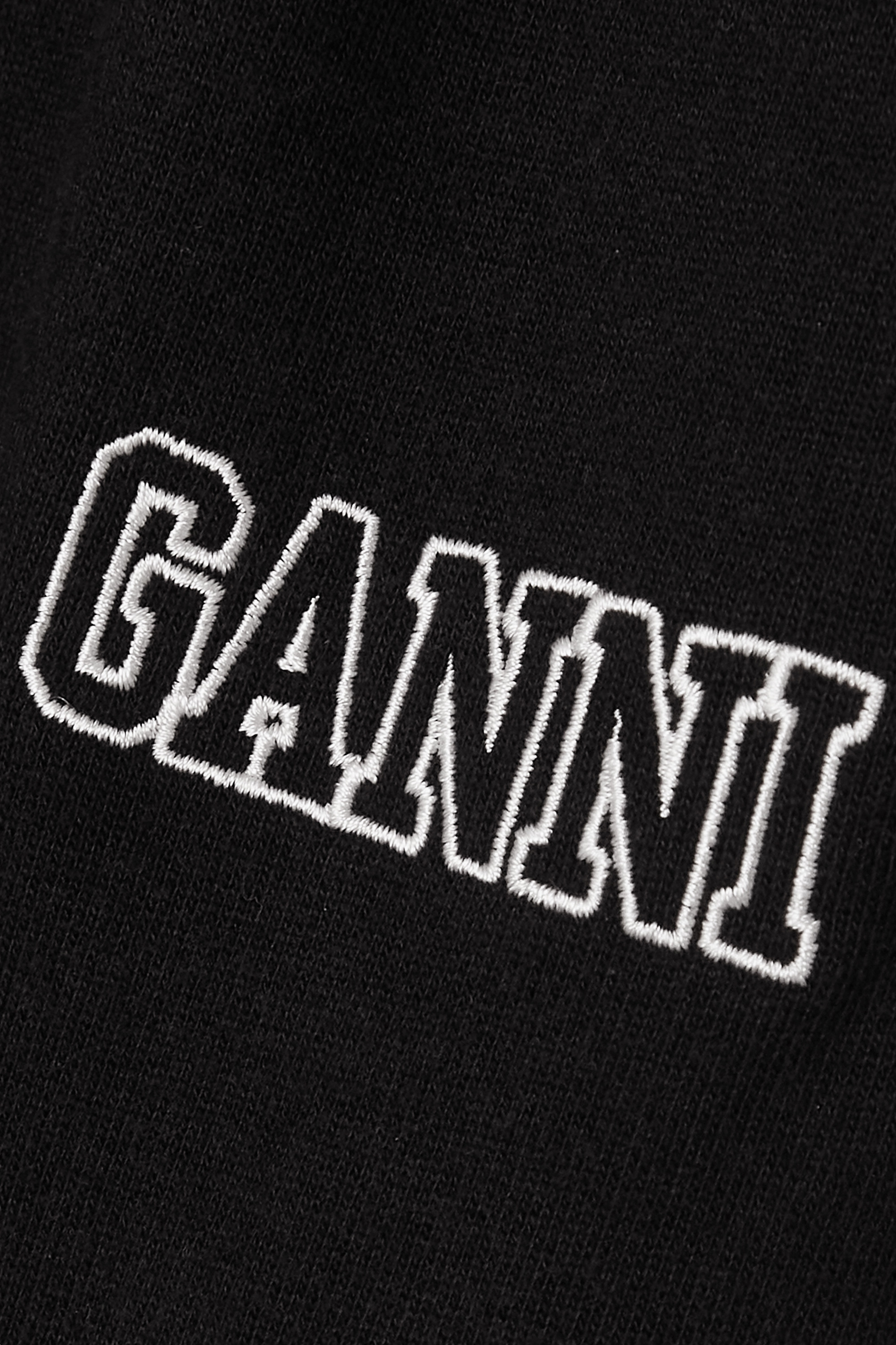 GANNI Software Isoli embroidered cotton-blend jersey shorts