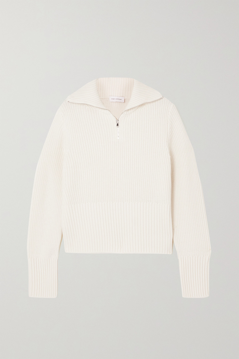 NINETY PERCENT + NET SUSTAIN ribbed organic merino wool sweater