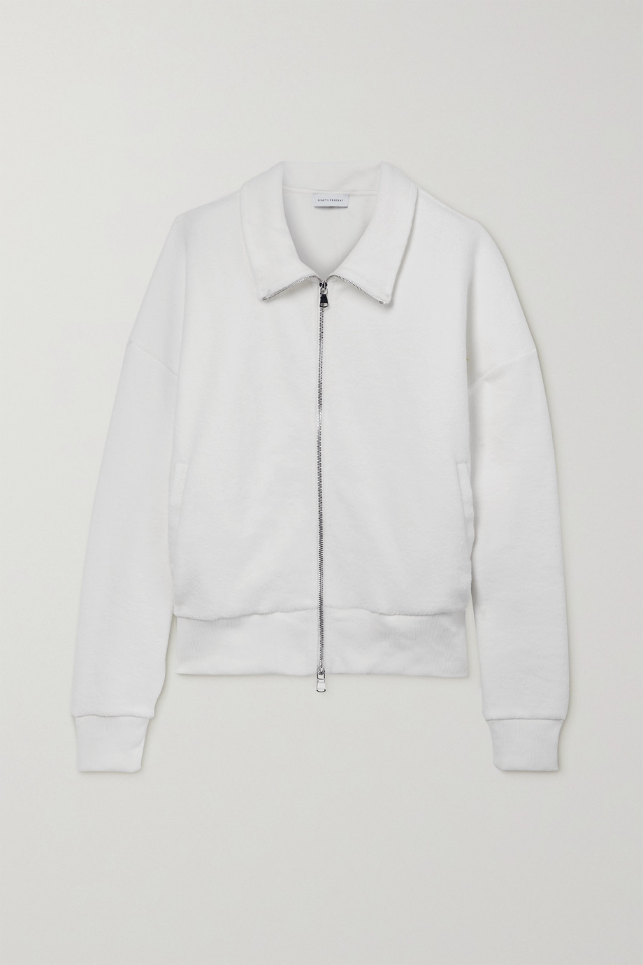 NINETY PERCENT + NET SUSTAIN oversized organic cotton-fleece jacket