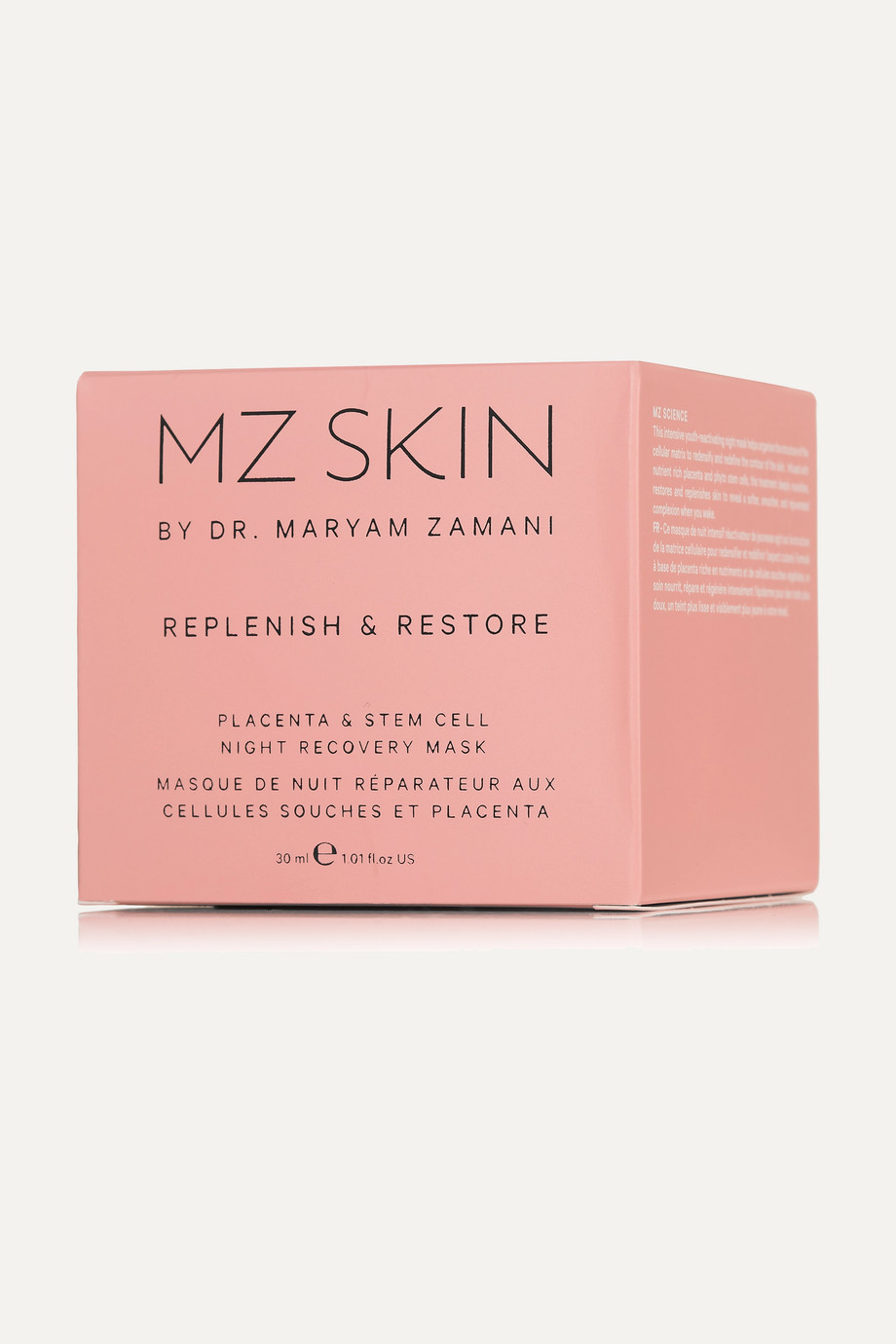 MZ SKIN Replenish & Restore Placenta & Stem Cell Night Recovery Mask, 30ml