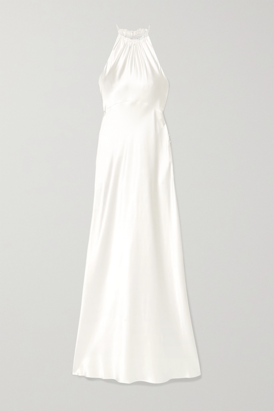 LES RÊVERIES Silk-charmeuse halterneck gown