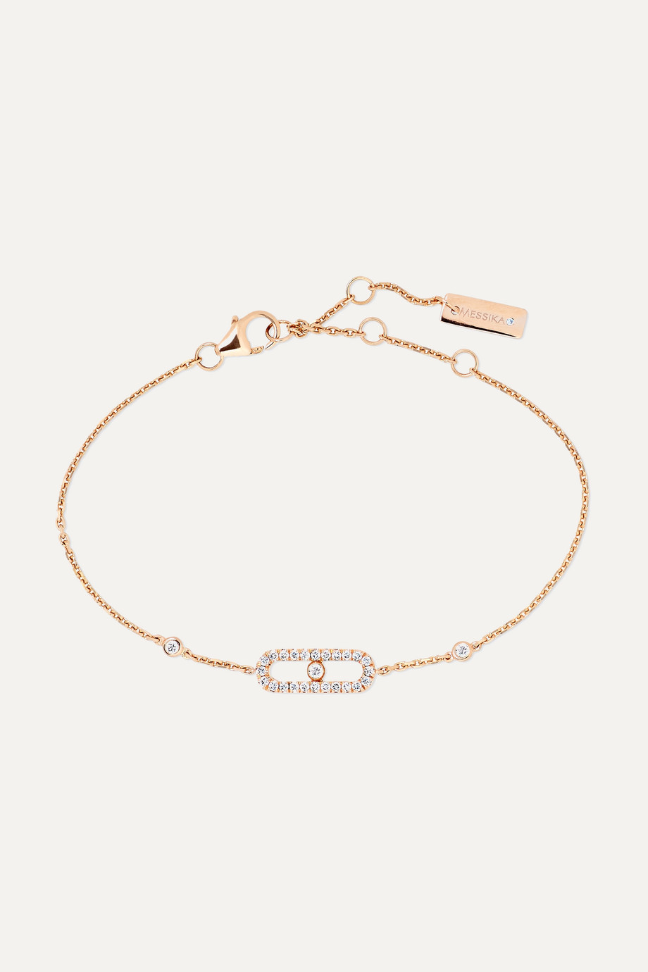 MESSIKA Move Uno 18-karat rose gold diamond bracelet