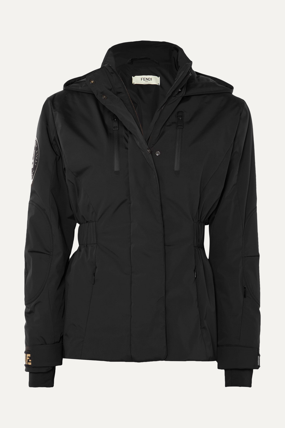 FENDI Hooded quilted shell jacket